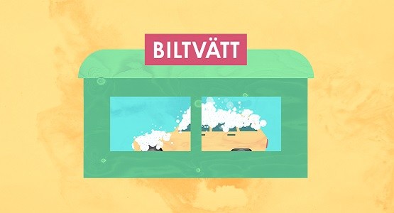 Illustration Biltvätt